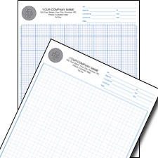 "Graph Paper Pad (Ruled 1/4"" or 1/8"")"